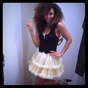 Cream American Apparel tutu skirt